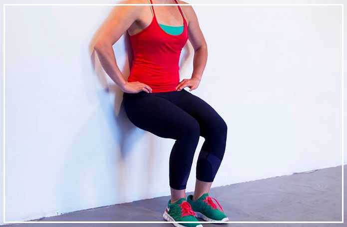 Indoor workout 5 Wall Sit